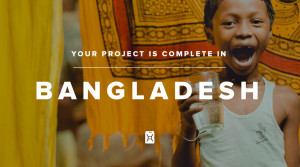 Now more than 1800 people have clean water!